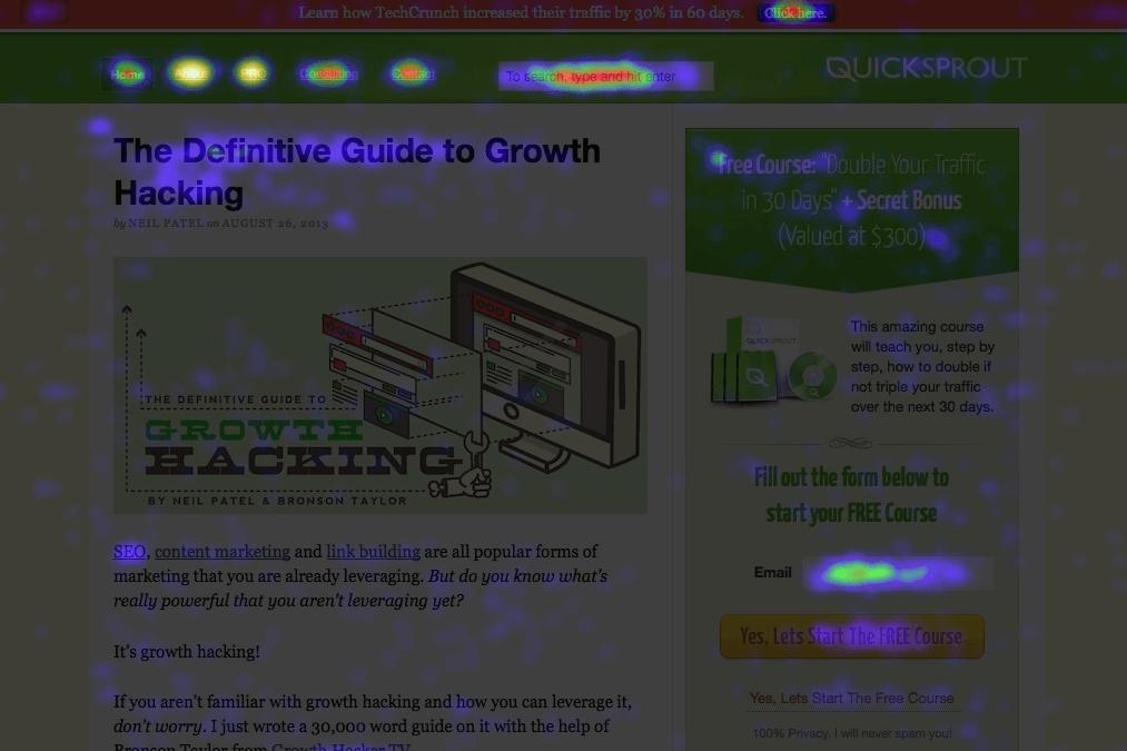 Quicksprout heatmap