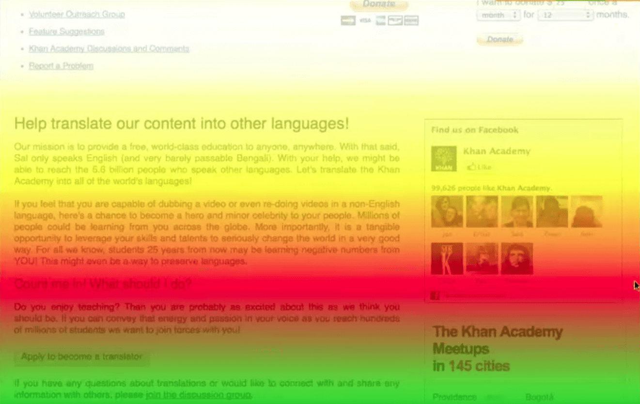 Help translate your content scroll map