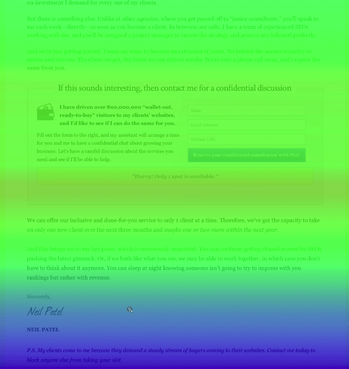 Heat map with Cold Bottom Homepage