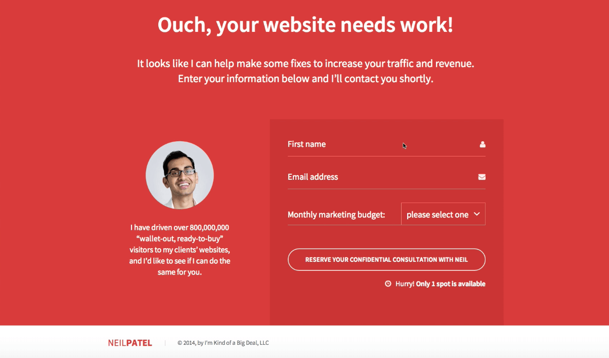 ouch your website needs work