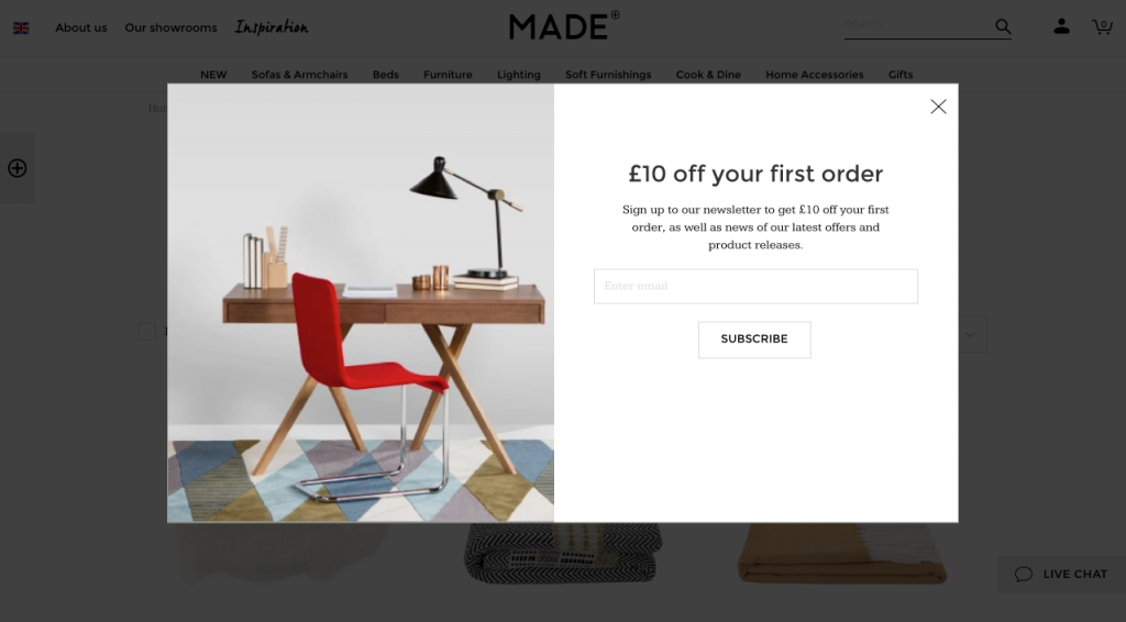 Example of Ecommerce Opt In