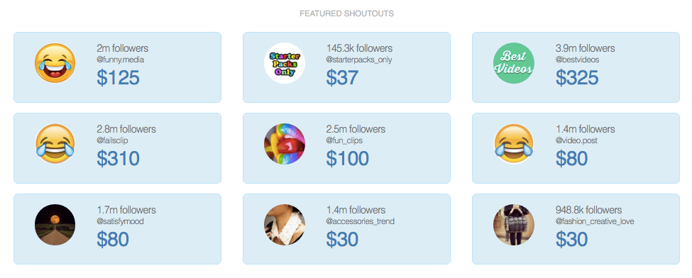 featured shoutouts