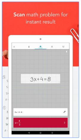 Google Play App Instant Math Result