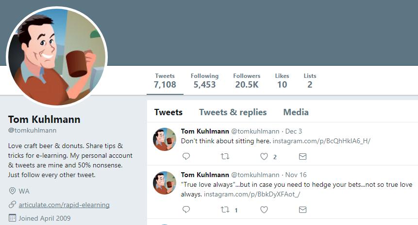 Tom Kuhlmann Twitter Profile