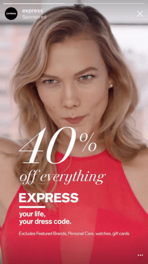 40 percent off express