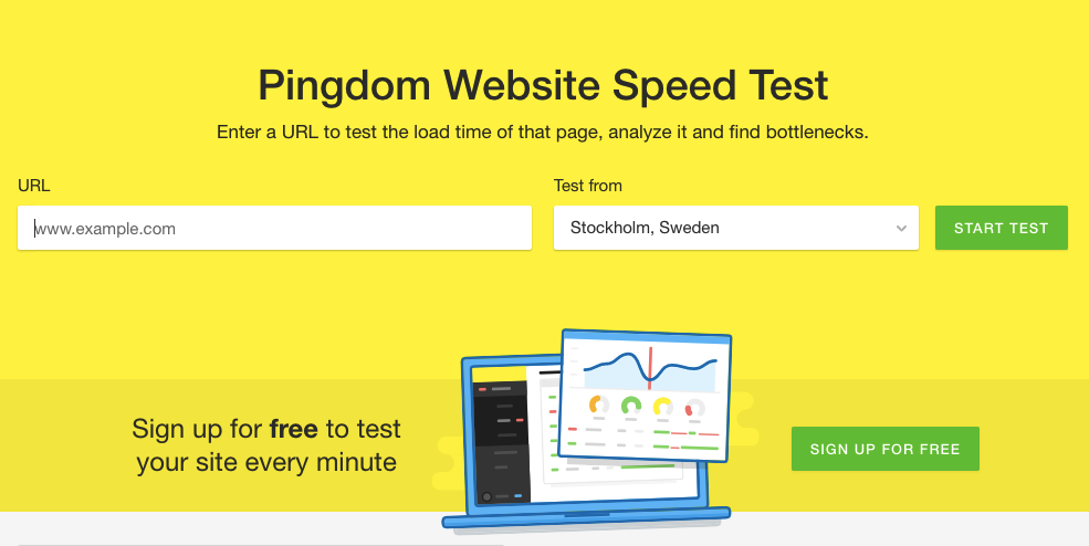 speed up your website pingdom