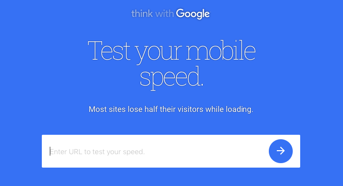 speed up your website test mobile speed
