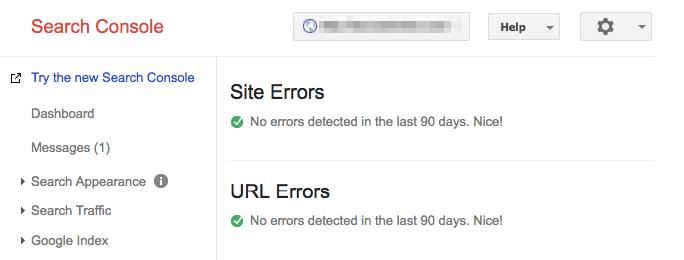 google index tool crawl errors 90