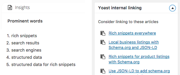 yoast internal linking