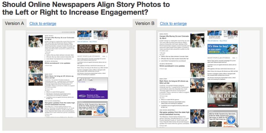 story photos ab testing