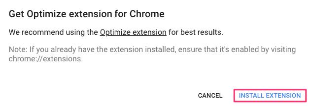 optimize extension