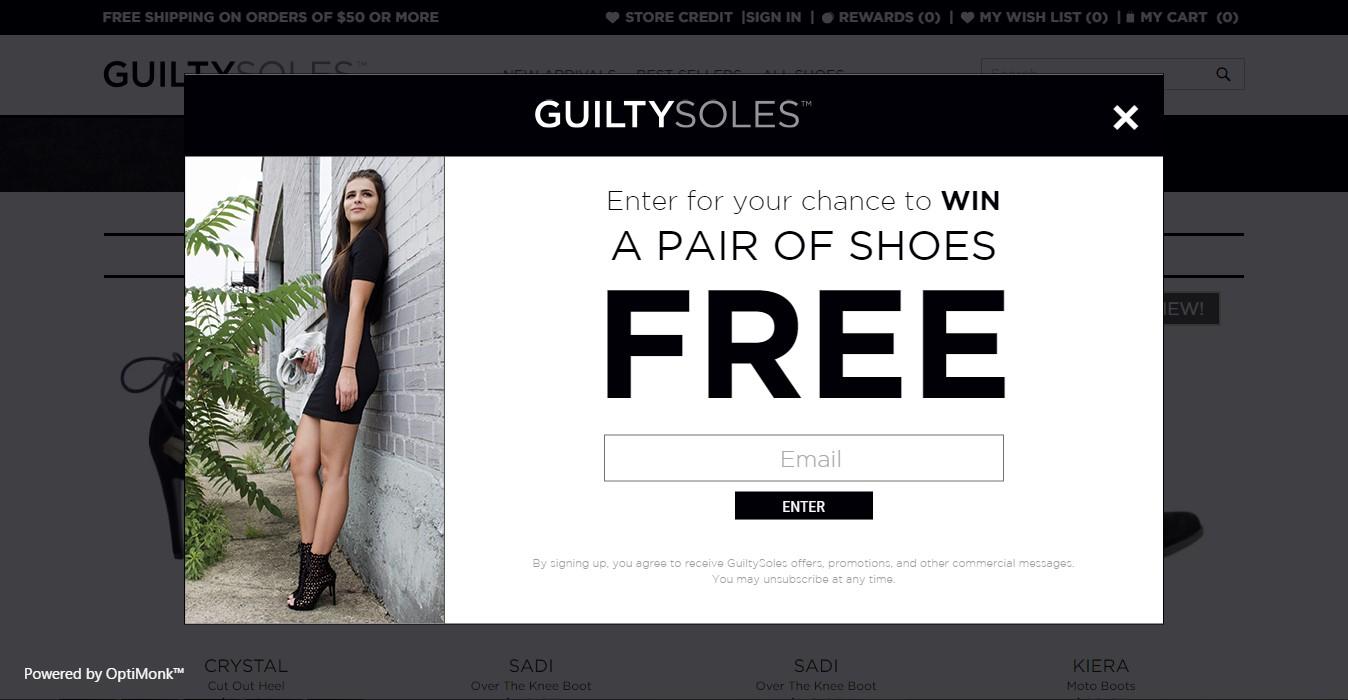 guilty soles conversion funnel