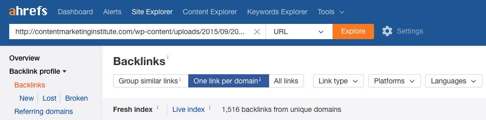quality backlinks ahrefs content
