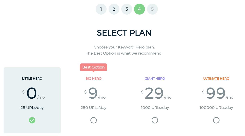 keyword hero plans