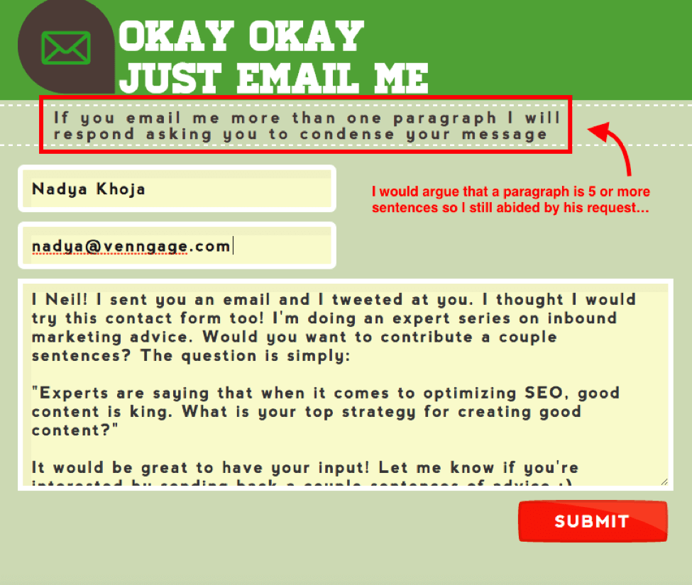 okay email me