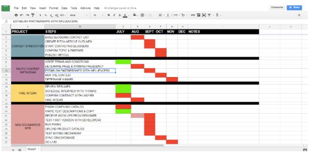 lead magnet ideas spreadsheet