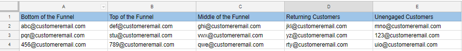customer acquisition email