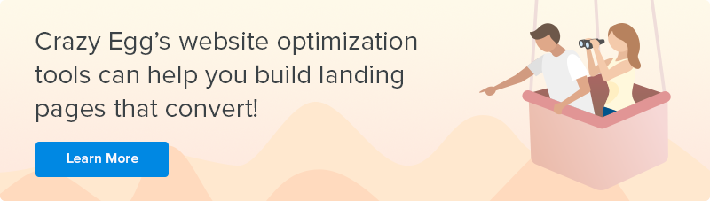 crazy egg landing page optimization