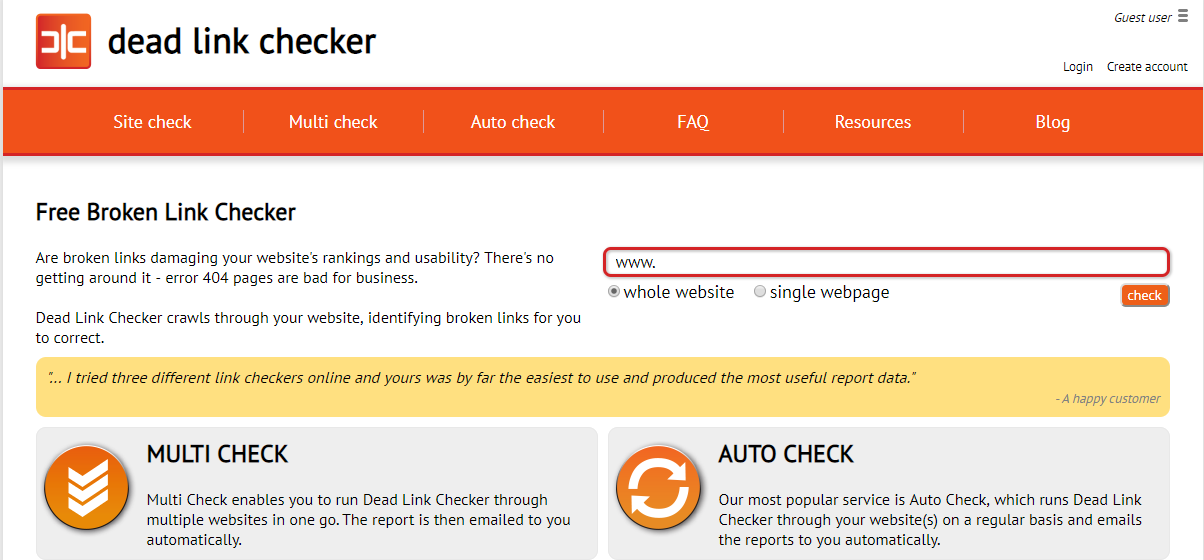 types-of-testing-dead-link-checker