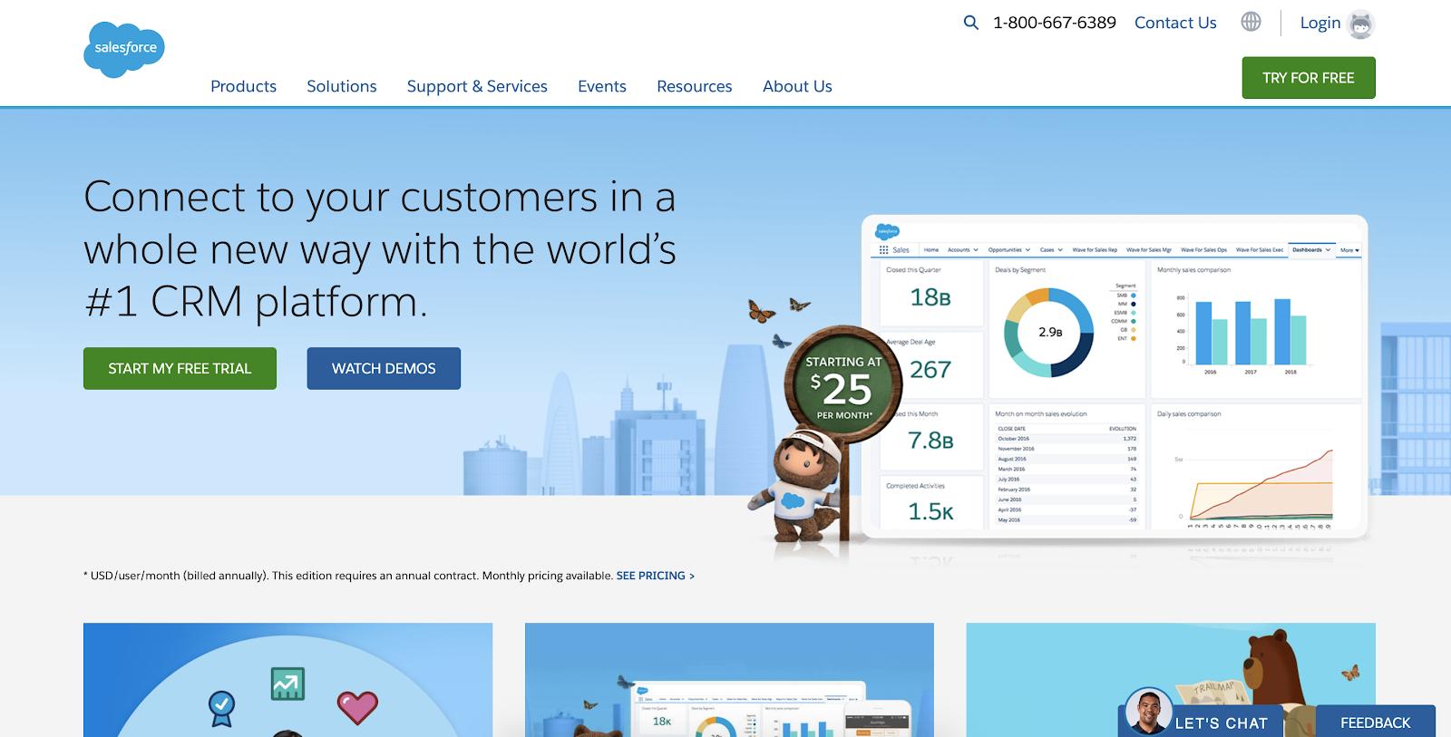 SaaS analytics tools: Salesforce