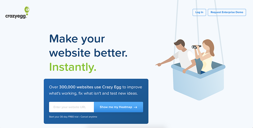Optimizely alternatives: Crazy Egg