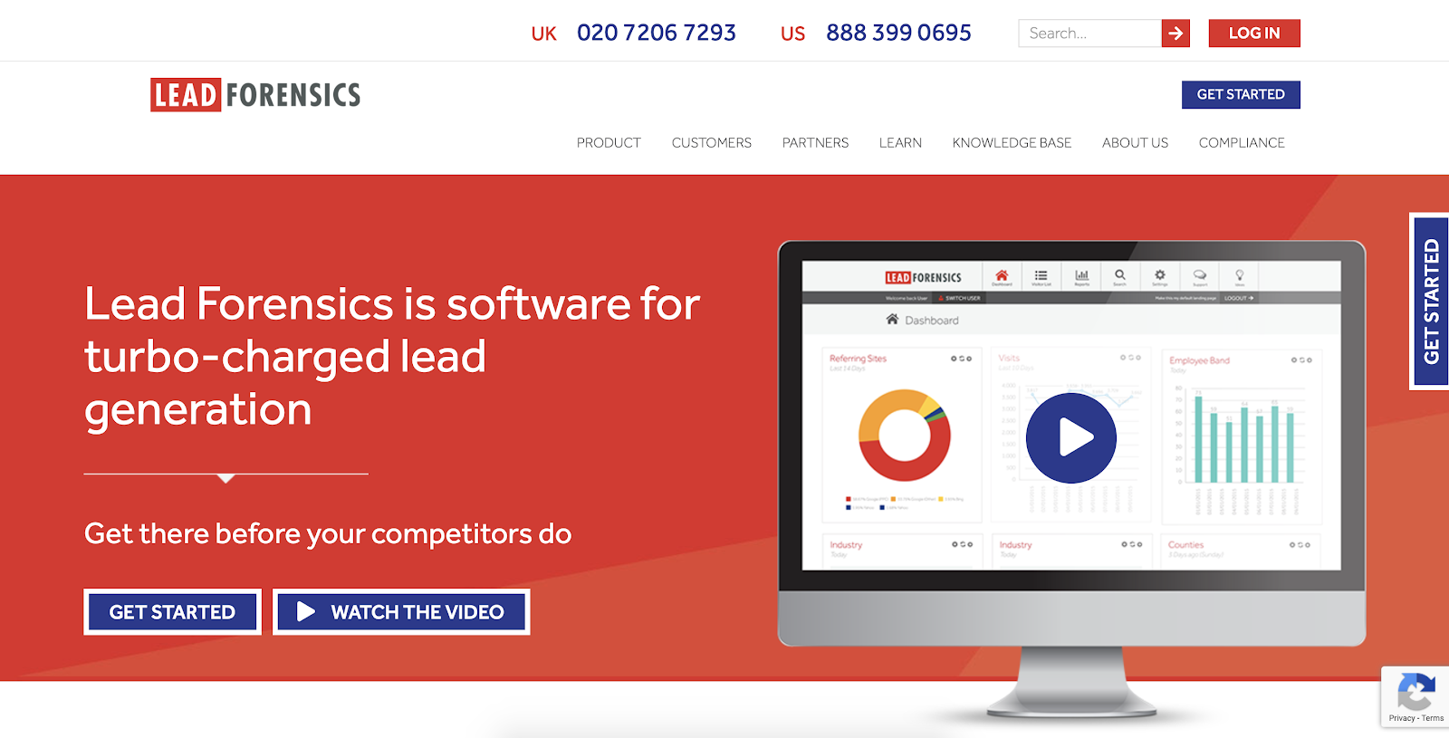 Website visitor tracking software: Lead Forensics