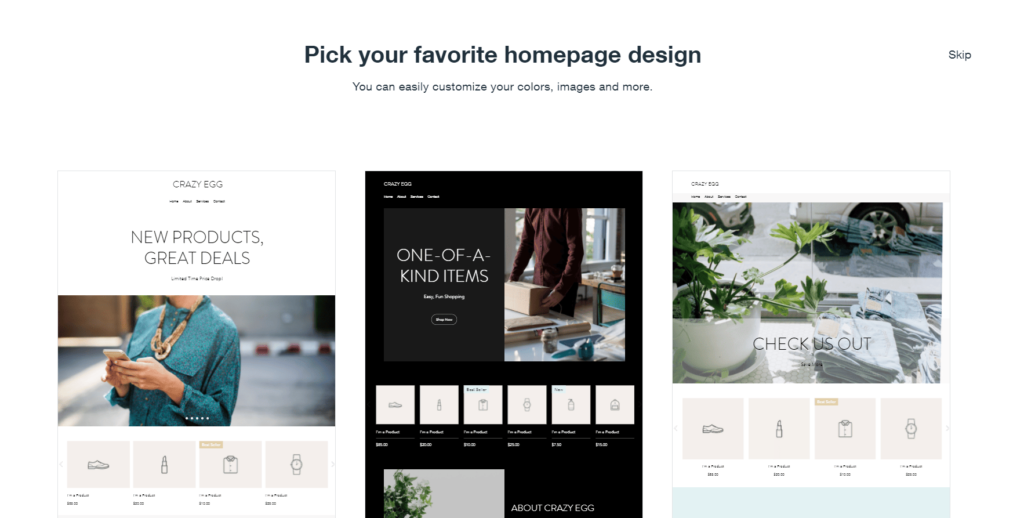 Pick your favorite homepage design