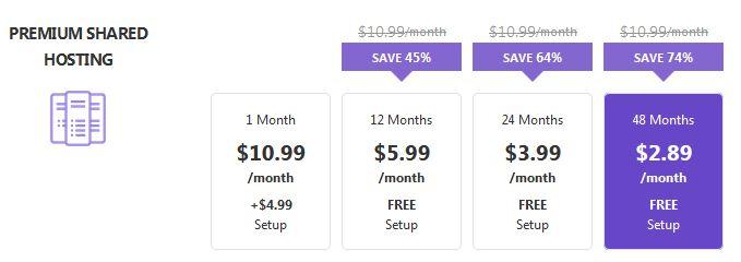 Hostinger Premium Pricing